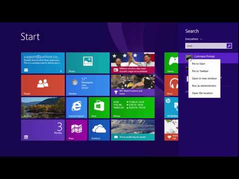 Windows 8.1 How to Open CMD As Administrator