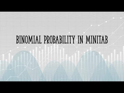 How to find binomial probabilities in Minitab
