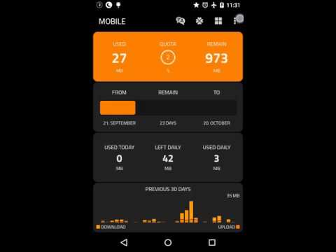 Free data counter and speed meter for Android