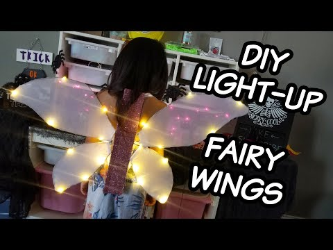 DIY Light Up Fairy Wing | LED Angel Wing Tutorial | Fairy Halloween Costume DIY