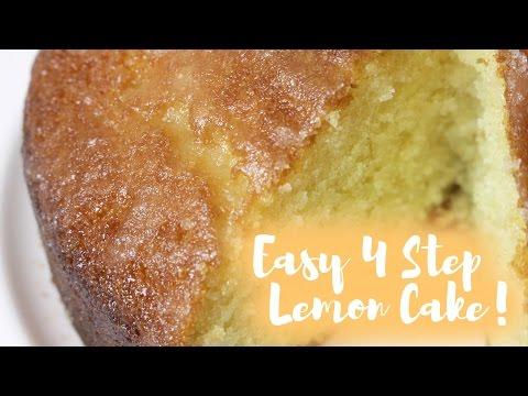 Easy 4 Step Lemon Cake! | fabuloushannah
