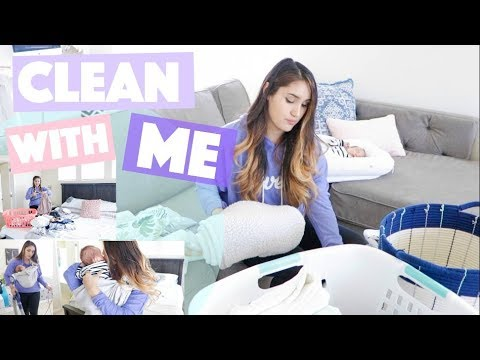ALL DAY CLEAN WITH ME 2018 CLEANING MOTIVATION // MOM OF 3