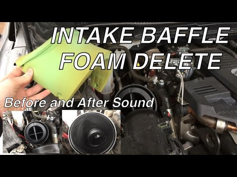 2015 6.7 Cummins gets a Little Louder - Intake Baffle Foam Delete with before and after sound