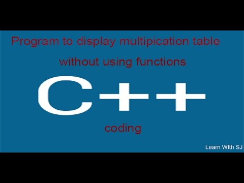 c++ program to display multiplication table