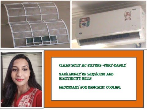 How to clean split AC filters at home - Very Easy Process