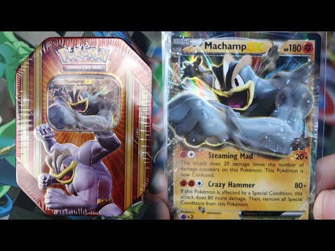 Pokemon Cards – Machamp EX Triple Power Tin Opening! (HE IS SO OP!)
