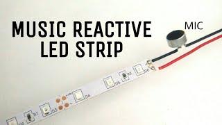 Music Reactive Led Strip | How to make music reactive 12v led strip