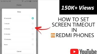 How to Set screen timeout in Redmi Phones | Screen Timeout in MI | Redmi Screen Timeout | Redmi