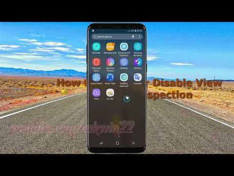 Android Nougat : How to Enable or Disable View attribute inspection in Samsung Galaxy S8 or S8+