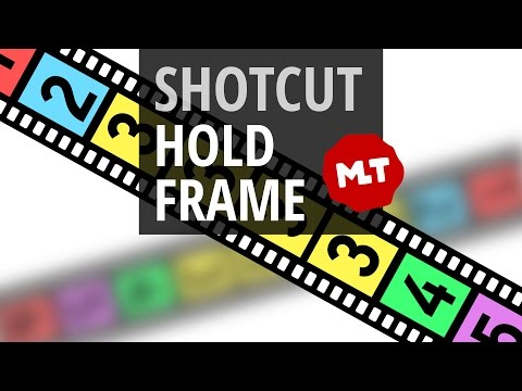 Pause Video or Hold/Freeze Frame in Shotcut