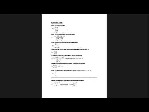 Introduction to Hypothesis Testing Recording of Online Office Hour