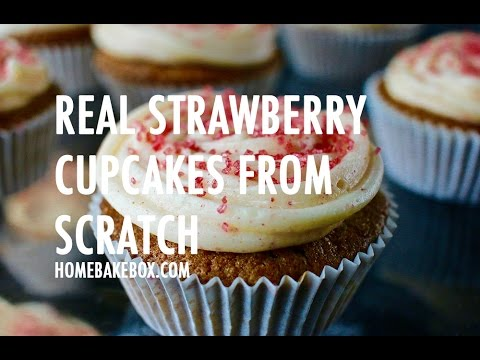 Easy Strawberry Cupcakes From Scratch