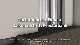 balkonaustritt bzw fensterbank einbauen w rmed mmung. Black Bedroom Furniture Sets. Home Design Ideas