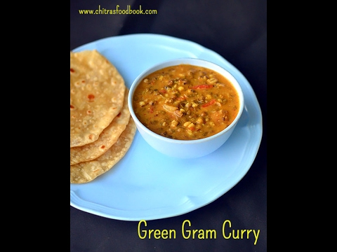 Green gram curry recipe - Pachai payaru kuruma for chapathi, rice