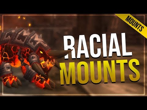 Dark Iron Dwarf Core Hound & Paladin Ram Mounts   In-game Preview With Animations!