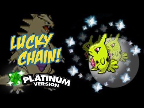 Crazy Chain for Larvitar in Pokemon Platinum!