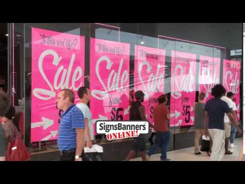 Shop Window SALE Banners & Poster Ideas