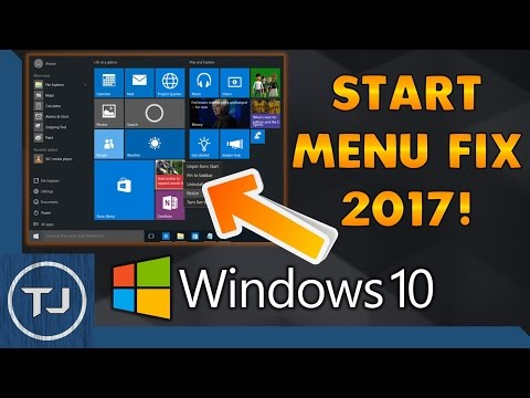 How To Fix Windows 10 Start Menu/Button 2017 NEW!