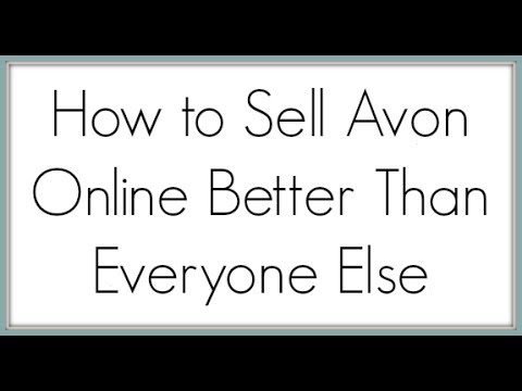 How To Sell Avon Online | You Brand Your Self Not Avon