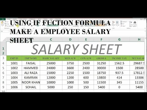 How To Make Salary Sheet In MS Excel # 43