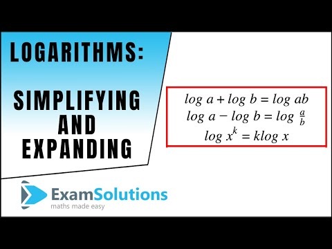 Logarithms : Simplifying and Expanding : ExamSolutions