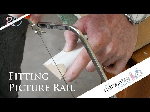 How to Fit a Picture Rail