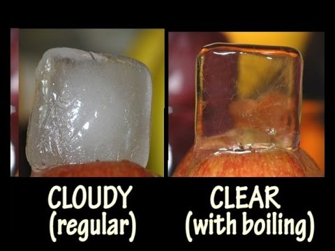 How To Make Crystal Clear Ice Cubes / Artisanal Ice || Как сделать кристально чистые кубики льда