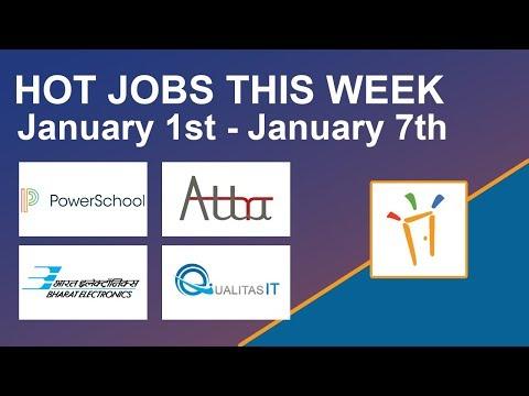 Freshersworld Hot Jobs Of The Week-(Jan 1st–Jan 7th) – BEL,PowerSchool,QualitasIT,Attra Infotech