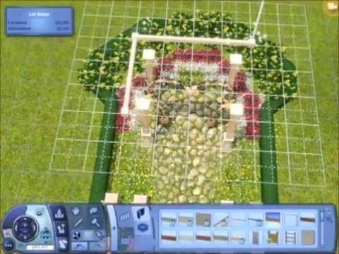 The Sims 3 - Creating an outdoor wedding place