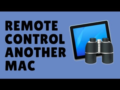 How to remote control another Mac