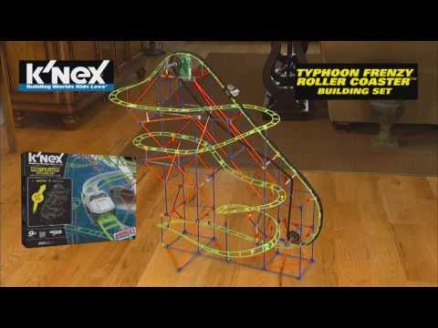 Typhoon Frenzy Roller Coaster Building Set by K'NEX