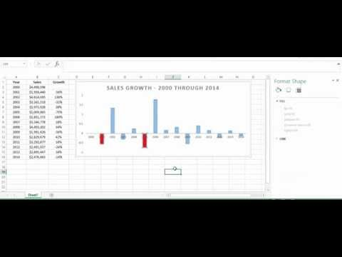 How to Change the Colors of a Bar in Excel