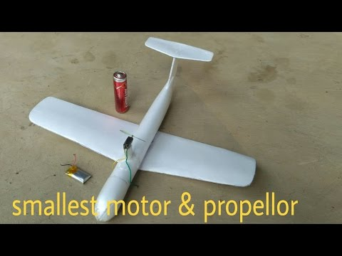 HOMEMADE MICRO RC PLANE.FLYING VIDEO.