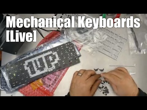 Live Mechanical Keyboard kit build - making 3x Zealio switch 60% universal kits from 1upkeyboards