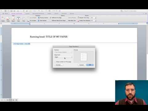 APA  How to create a running head in Word for Mac