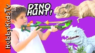 Zing Dino TOY Hunterz Crossbow! T-Rex Minion WITH Imanginext Fun HobbyKidsTV