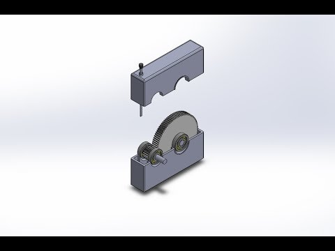 Solidworks 2016 Simple Gearbox Design Project Assembly