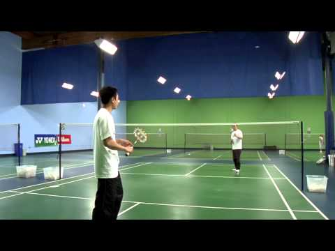 How to Hit an Overhead Drop Shot in Badminton : Badminton