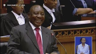 President Cyril Ramaphosa addresses Parliament for the first time