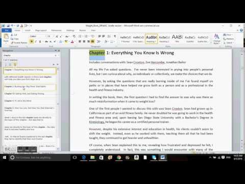 How to format the headings of your kindle book in order to create  a table of contents