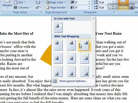 Wrap Text Around an Object or Picture in Word 2007