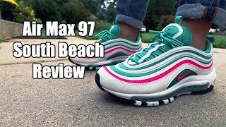 new styles 2a03a 46bc6 Air Max 97 South Beach Review + On Feet