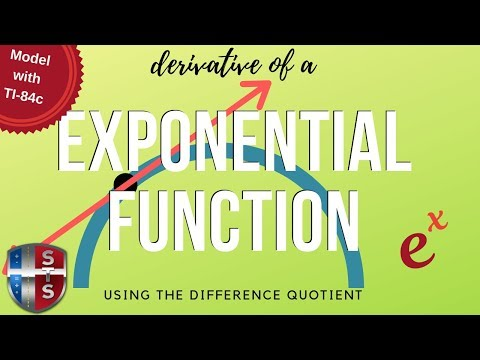 Calculus - Difference Quotient - Exponential Function