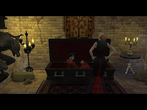 The Sims 4: Vampire Bat & Coffin Woohoo