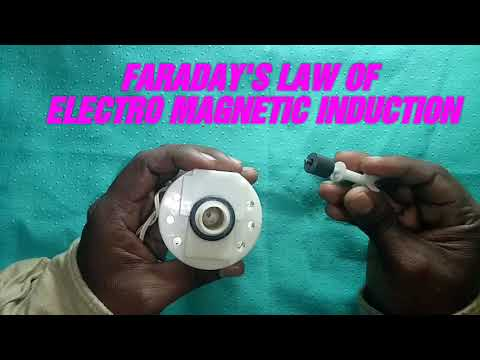 Faraday's law in Tamil