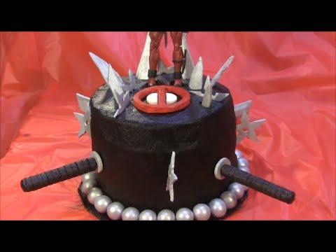 How to  Make Fondant Weapons for Deadpool or Ninja Cake