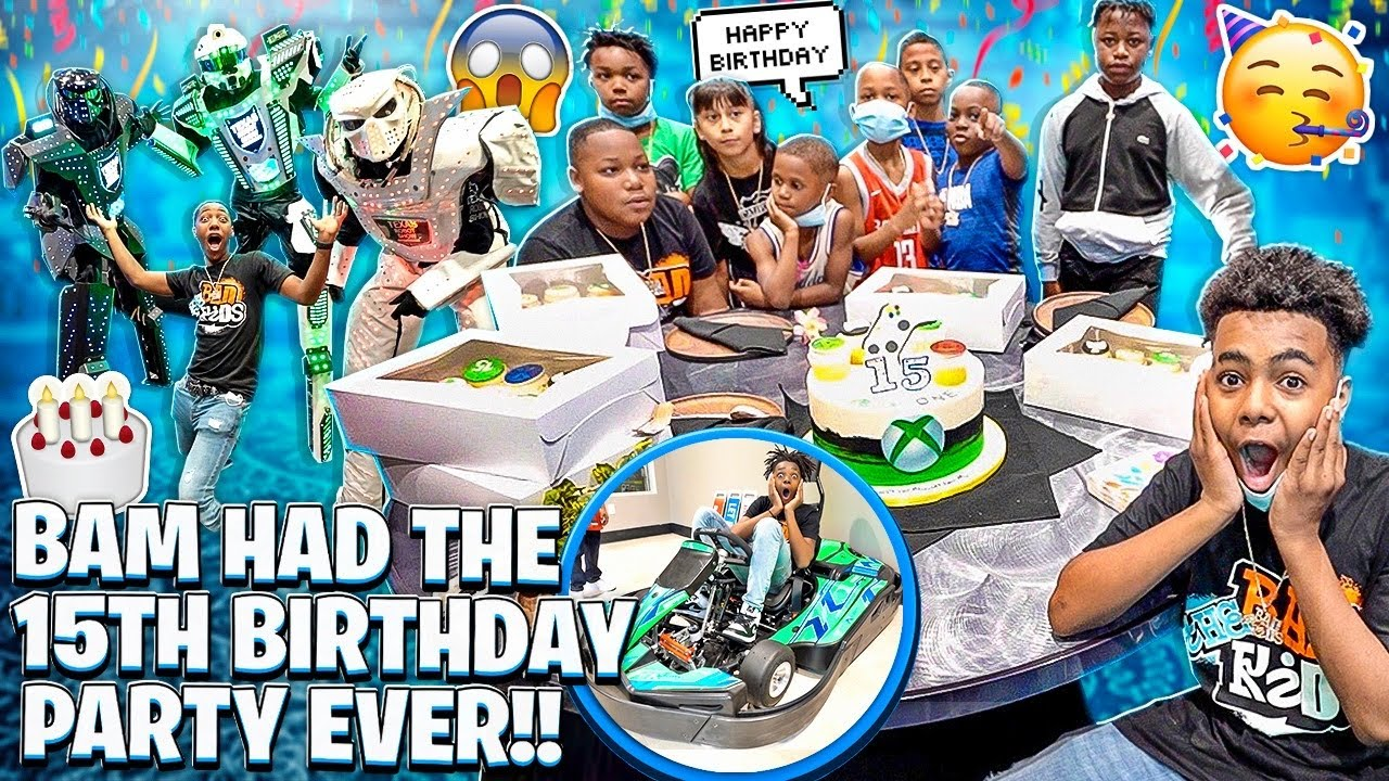 BAM HAD THE BEST 15TH BIRTHDAY PARTY EVER!!