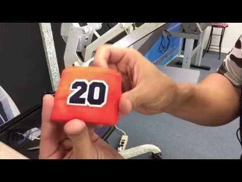 Heat Pressing Baseball Wristbands with Siser Brick and Strip Flock HTV