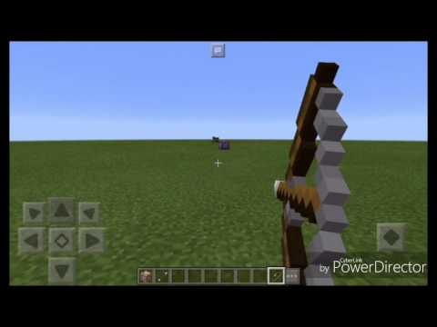 How to make an Ender Bow in MCPE || Command Block || Teleport using a bow! ||