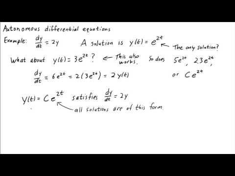 Introduction to autonomous differential equations
